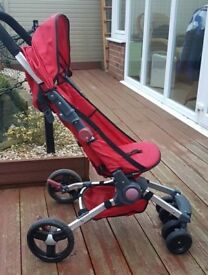 Foldable collapsing child's buggie