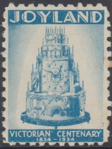 Stamp Victorian Centenary 1934-35 Joyland blue Cinderella label MUH scarce