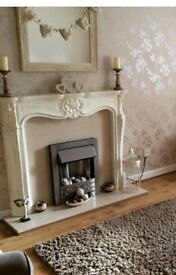 French Louis shabby chic fire