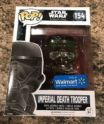 CHROME IMPERIAL DEATH TROOPER Rogue One Funko POP! Walmart Exclusive #154. New!!