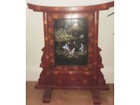 Vintage Asian fireplace screen