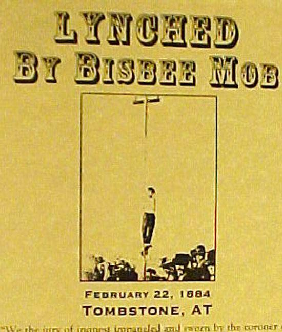 Hanged by Bisbee Mob at Tombstone Arizona Poster FREE SHIPPING