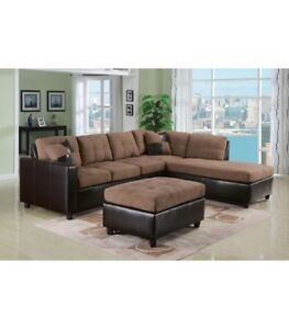 L-shape 2 Piece Sectional Corner Sofa Set