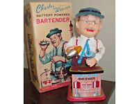 WANTED! Charlie Weaver Bartender toy by Rosko Battery Operated