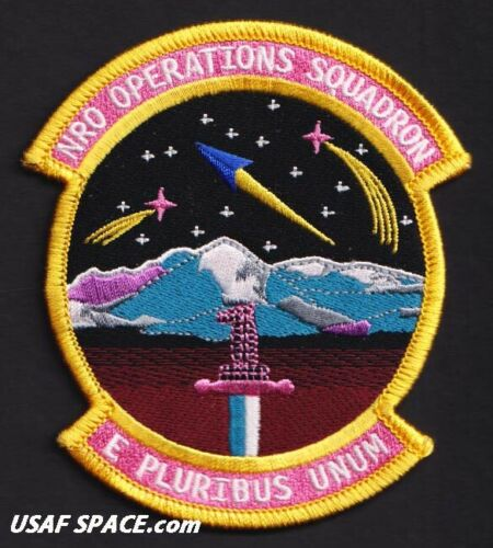 USAF NRO OPERATIONS SQ - E PLURIBUS UNUM - Schriever AFB, CO - ORIGINAL PATCH
