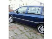 Vauxhall zafira 1.6petrol new mot 7 seater