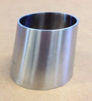 2.5 X 2 Sanitary Eccentric Reducer T316l Stainless Steel Weld End Fitting