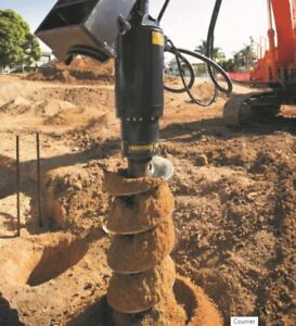 Auger Drive, Screw Pile Driver, Post Hole Digger,  Best Warranty