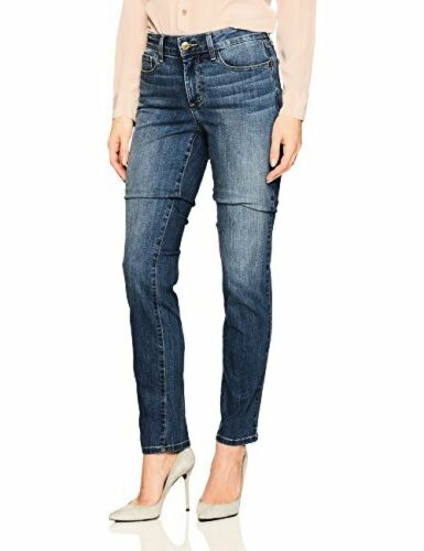 NYDJ Womens Collection Sheri Slim Jeans In Cool Embrace Deni