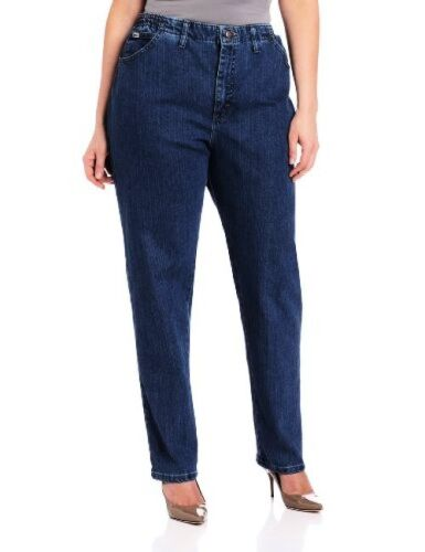 Lee Womens Plus-SZ Relaxed Fit Side Elastic Tapered Leg Jean