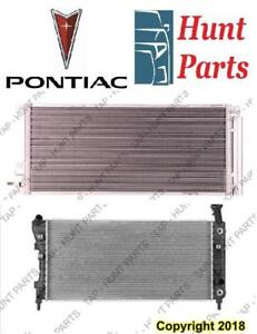 All Pontiac AC compressor Condenser Radiator Support Fan Cooling Compresseur AC Condenseur Radiateur Support Ventilateur