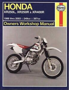 Honda XR250L, XR250R & XR400R 1986 - 2003 Haynes Manual Blacktown Blacktown Area Preview