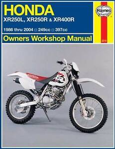 Honda XR250L, XR250R & XR400R 1986 - 2004 Haynes Repair Manual Blacktown Blacktown Area Preview