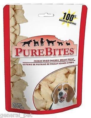 - PureBites 100% USDA Freezed Dried Chicken Breast Dog Treats 3oz