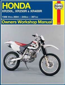 Honda XR250L, XR250R XR400R 1986 - 2004 Haynes Repair Manual Blacktown Blacktown Area Preview