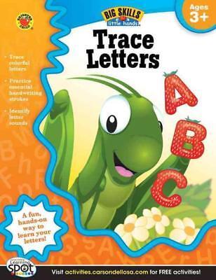 Trace Letters Kids - TRACE LETTERS - BRIGHTER CHILD (COR)/ CARSON DELLOSA PUBLISHING (COR) - NEW PAPE