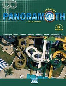 Manuel de math panoramath secondaire 2 volume 1-2