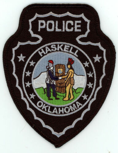 HASKELL POLICE OKLAHOMA OK NICE COLORFUL PATCH SHERIFF