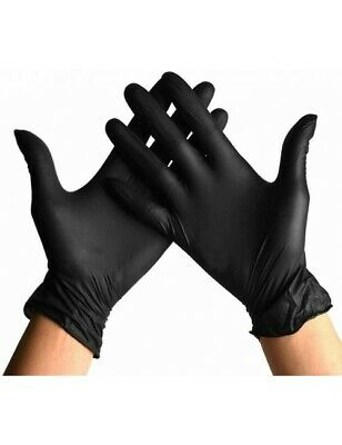 Guantes de Nitrilo Talla S - Color Negro - Caja 100 uds...