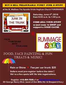 **LOOKING FOR VENDORS - Junk-In-The-Trunk Sale!**
