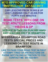 MTO APPROVED & CERTIFIED CAR DRIVING INSTRUCTOR  647-522-9811