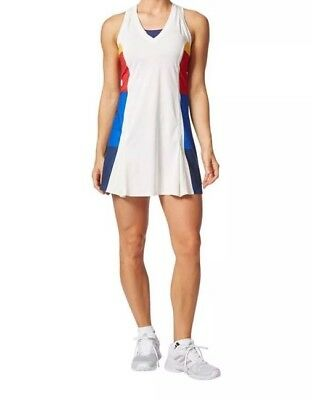 Adidas Women's Pharrell Williams NY Colorblocked Tennis Dress Originals SZ L NEW