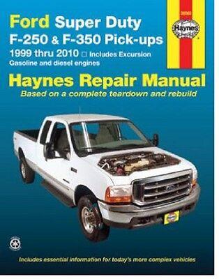 Diesel Shop Manual - 1999-2010 Ford F250 F350 Excursion Diesel 4X4 Repair Service Shop Manual 8566