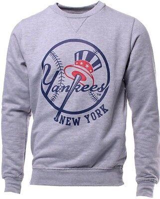 New York Yankees MLB Licensed Gray Majestic Jameson Sweatshirt Men Big Sizes - Gray Mlb Sweatshirt