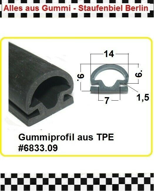Muster Türdichtung Dichtungsgummi Beige  Dethleffs Hymer LMC TEC Bürstner 5cm