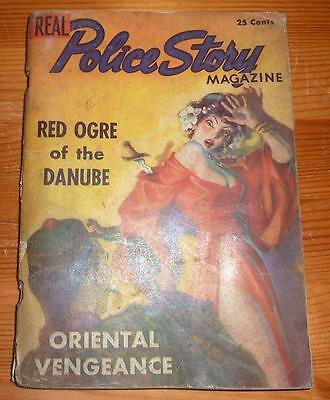 REAL POLICE STORY MAGAZINE VOL 1 No 1 1937 VERY RARE