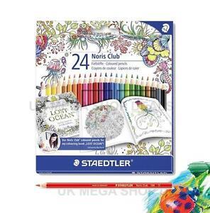 Staedtler 24 Noris CLUB - Assorted Coloured Pencils - Johanna Basford Edition