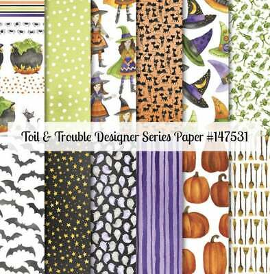 Stampin' Up! TOIL and TROUBLE, Halloween Designer Series Paper (DSP), 12