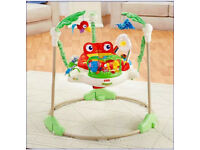 Fisher Price Rainforest JUMPEROO (( As new condition )) Baby Bouncer Activity Centre