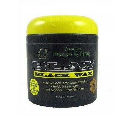 Jamaican Mango & Lime Blax Black Wax natural black temporary colorizer 6oz