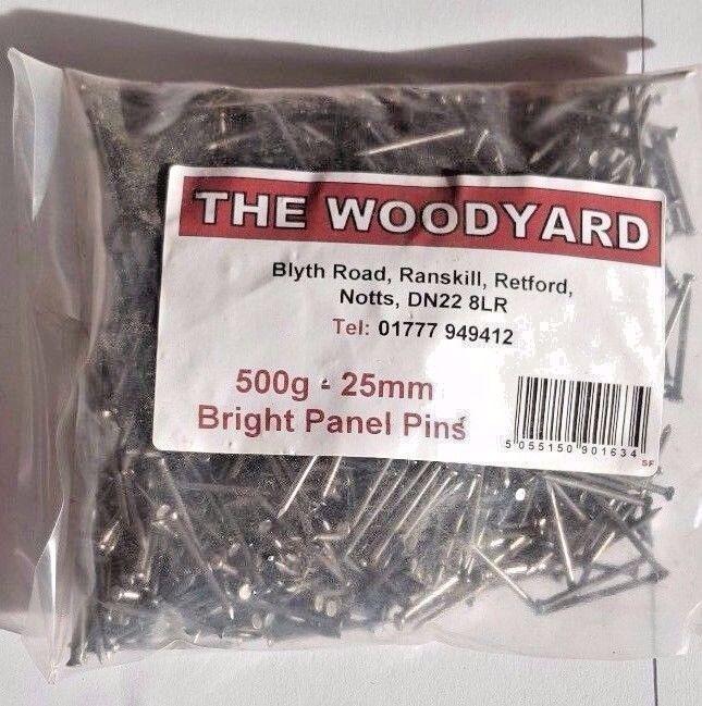 500g 40mm BRIGHT PANEL PIN NAILS