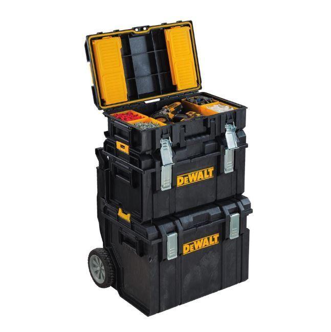 3-pc Modular Gear Cart Rolling Tool Box Portable Jobsite Sto