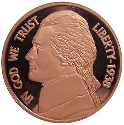 1 oz Copper Round - Jefferson Nickel