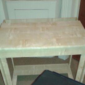 modern cream unused desk for sale £10. Thanks