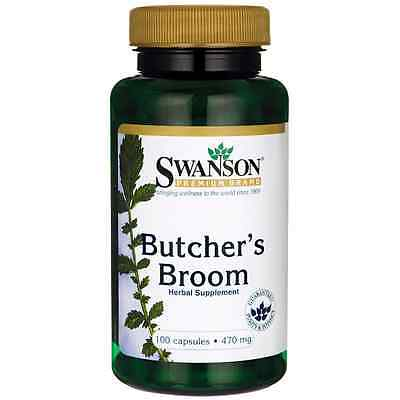Swanson Butcher's Broom 470 mg 100 Caps