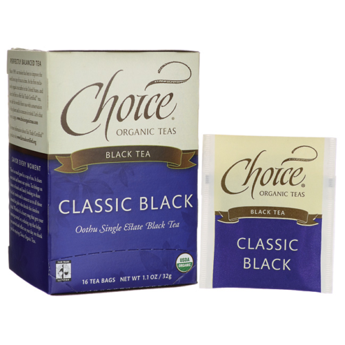 CHOICE ORGANIC TEAS Ft Black Organic Tea 16 BAG