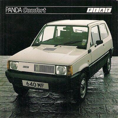 Fiat Panda 45 Comfort 1982-83 UK Market Foldout Sales Brochure