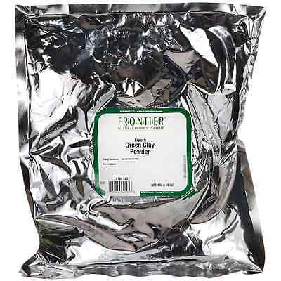 Frontier Natural Products Co Op French Green Clay Powder 16 Oz Pkg