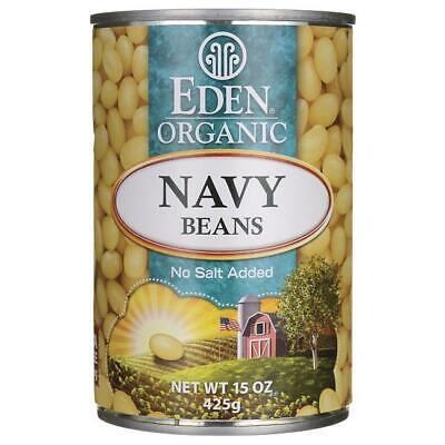 Eden Foods Navy Beans Organic 15 oz Can Eden Organic Navy Beans