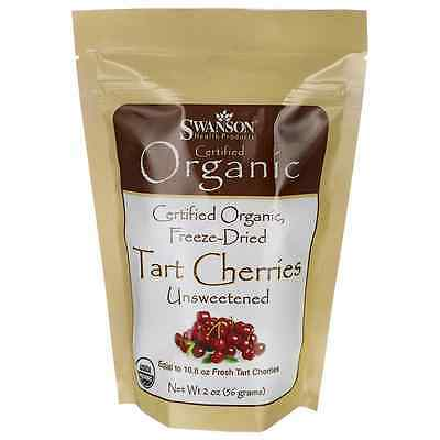 Swanson Freeze-Dried Tart Cherries, Unsweetened 2 oz (56 grams) Pkg