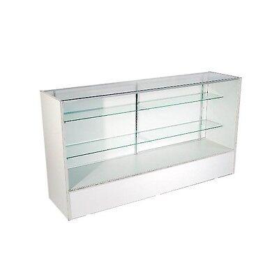 6 Full Vision Glass Showcase Display Case White-knock Down-sc6w
