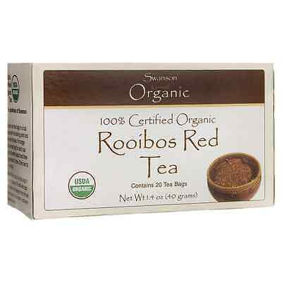 Swanson 100% Certified Organic Rooibos Red Tea 20 Bag(S)