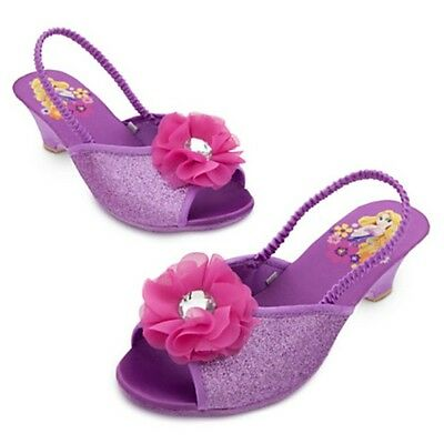 NEW Disney Store Rapunzel Dressy Slippers Shoes 9/10 NWT High Heels - Rapunzel Slippers