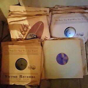 """Assorted Old 10"""" Vinyl Records (78 rpm)"""