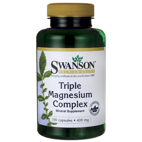 Swanson Triple Magnesium Complex 400 Mg 100 Caps