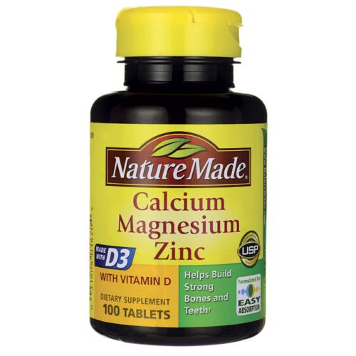 Nature Made Calcium Magnesium & Zinc, 100 ct